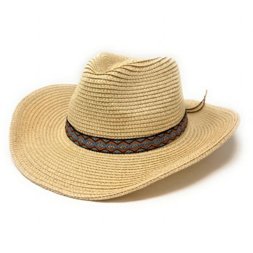 Summer Cowboy Hat with Aztec Band
